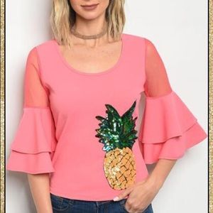 Tops - 'Stand Tall' Pineapple Top